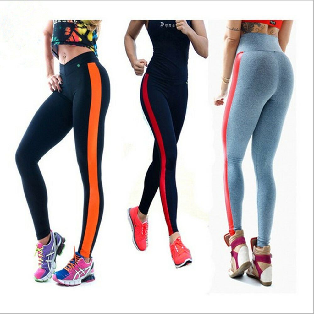 new women fitness leggings yoga sport high waist running casual soft pants s xl ebay. Black Bedroom Furniture Sets. Home Design Ideas