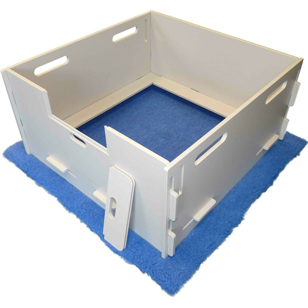 magnabox whelping box simple sanitary safe easy to assemble ebay. Black Bedroom Furniture Sets. Home Design Ideas