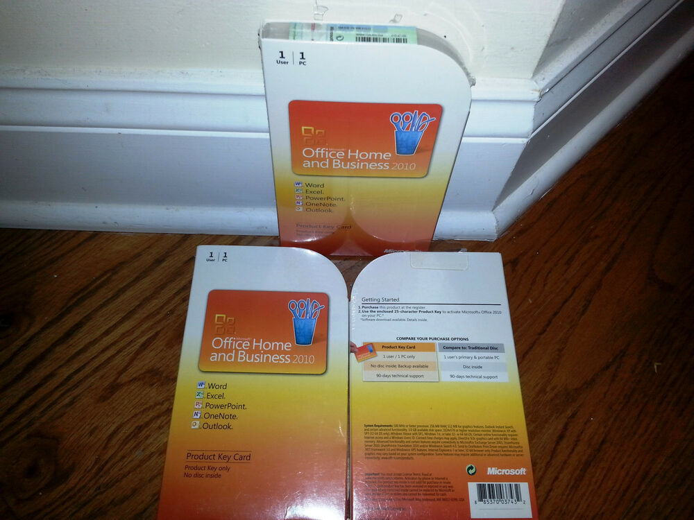 Microsoft Office 2010 Home and Business product key card,SKU T5D ...