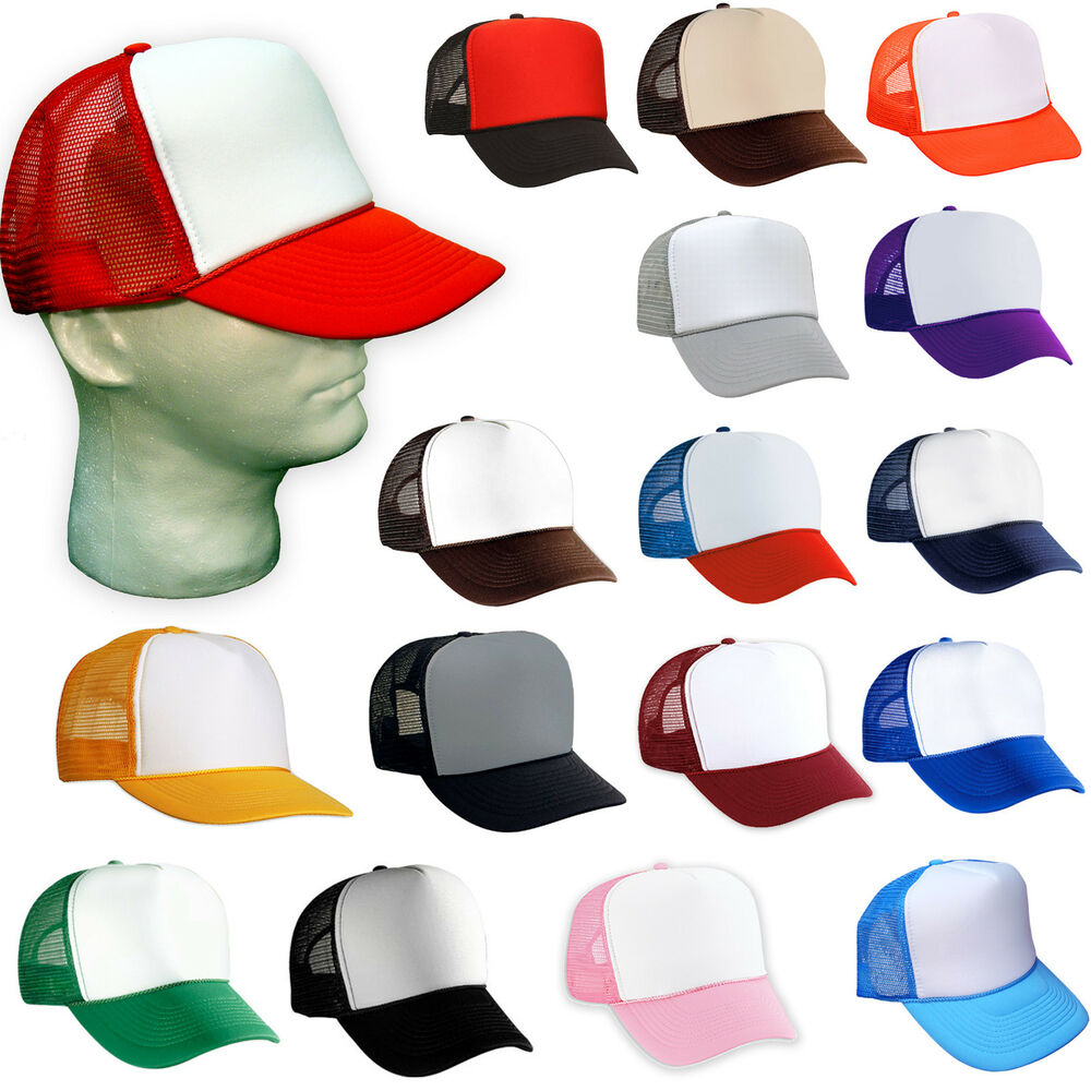 ca4ed82eb6c165 Details about 24 NEW TRUCKER HATS WHOLESALE BULK LOT of 2 DOZEN SNAPBACK  HAT CAP MESH BLANK