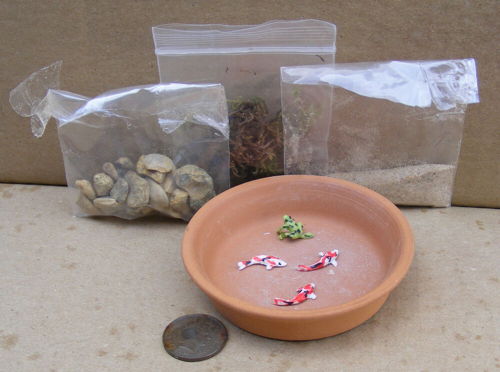 1 12 do it yourself pond kit with fish dolls house for Do it yourself fish pond