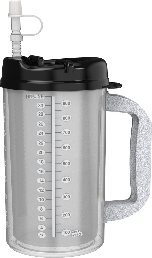 Bpa Free 3 Insulated Hospital Mugs With Black Lids