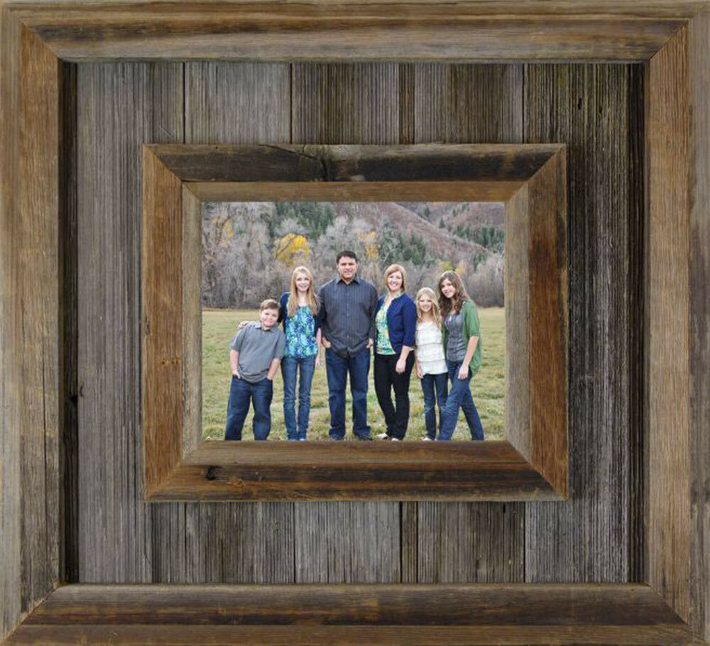 western barn wood durango picture frame large 6 5 wide