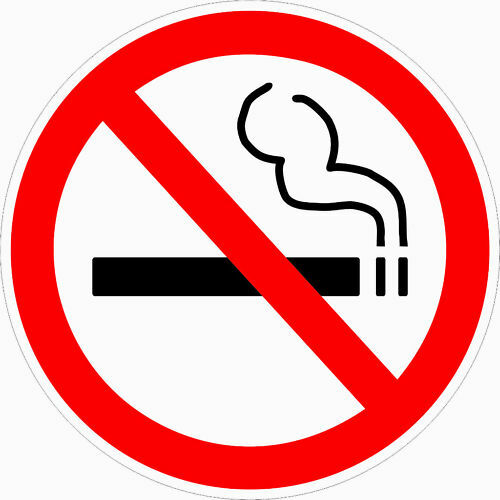 2 Clear No Smoking Decal Sticker 3 5 Quot Dia Outdoor Durable