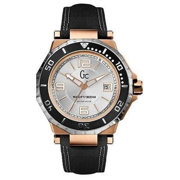 new guess collection gc 2 tone gold ss date