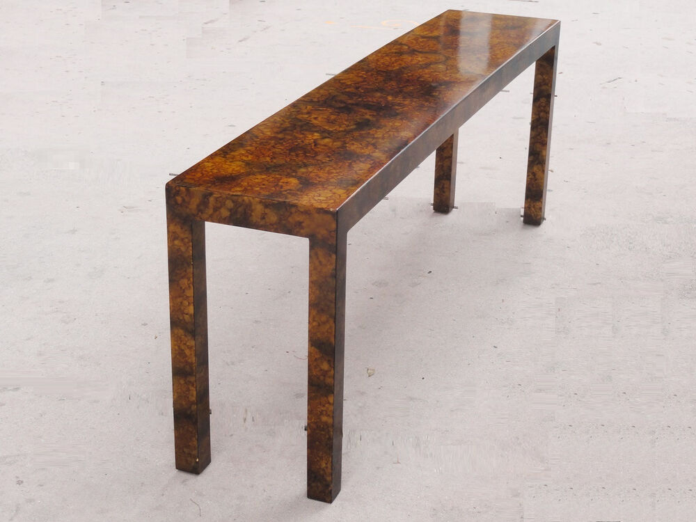 Details About High Fashion Chic 80s Long 72 Wellington Hall Lacquered Console Table