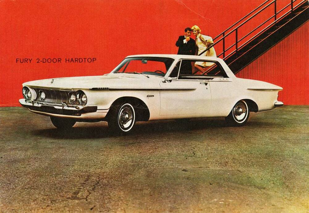 old print white 1962 plymouth fury two door hardtop auto. Black Bedroom Furniture Sets. Home Design Ideas