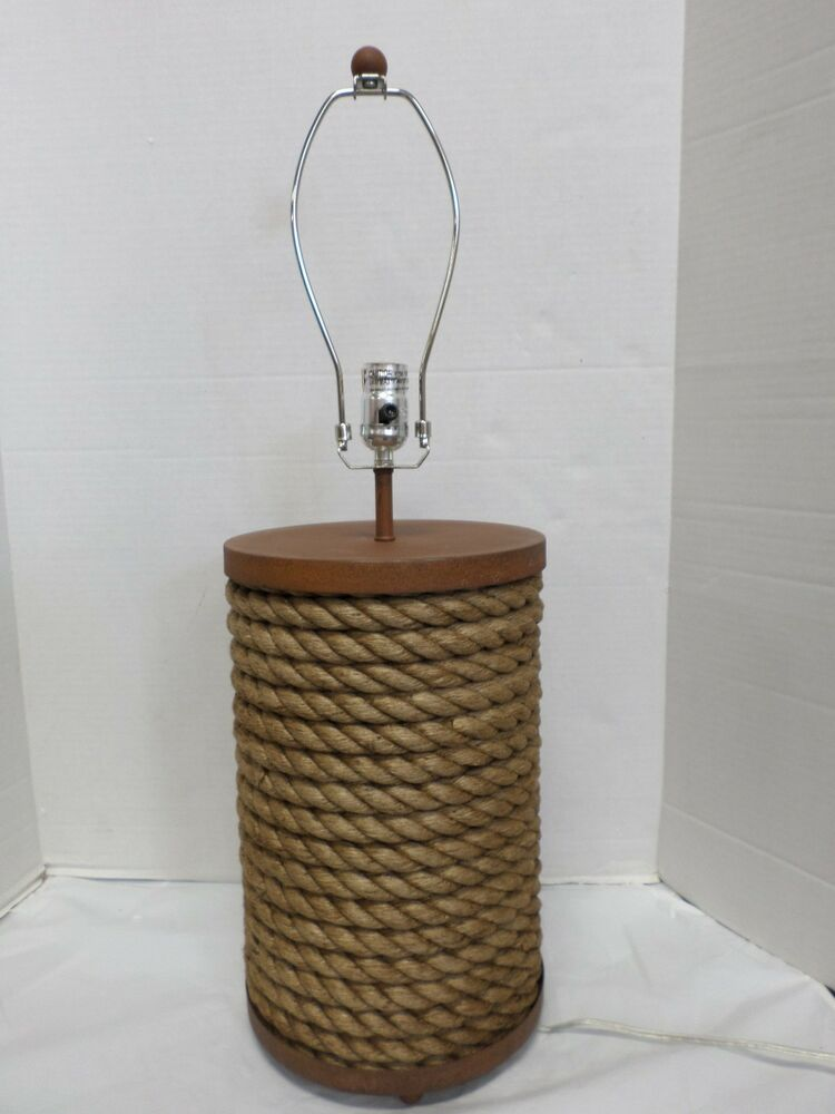 Pottery Barn Williams Sonoma Jute Rope Wrapped Lamp Base