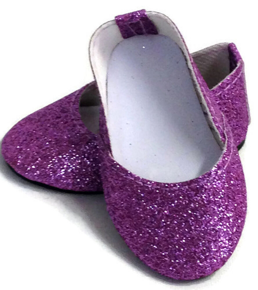lavender sparkle princess shoes made for 18 quot american