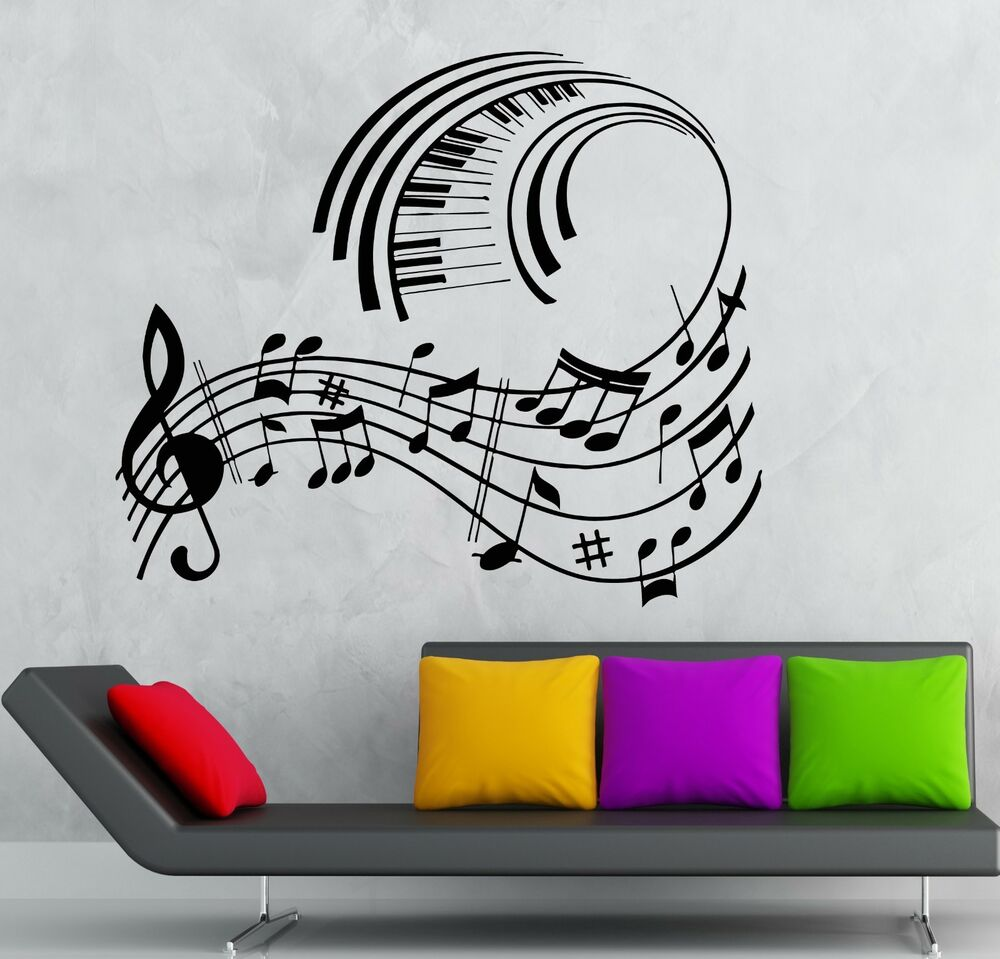 Cool Music Wall Decor : Wall stickers vinyl decal classical music sheet cool room