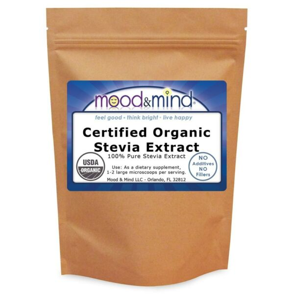 White Stevia Extract Powder 100% Organic +Micro-scoop - No Fillers! 4 oz (112g)