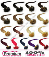 """20 Strands Pre Bonded 20"""" Remy Human Hair Extensions, Nail U Tip"""