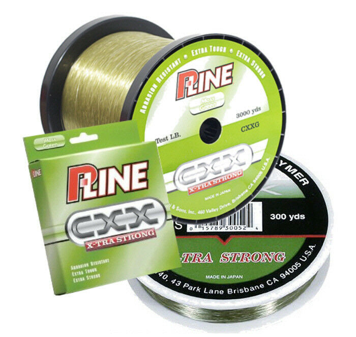 P line cxx moss green x tra strong fishing line 600 yards for Pline fishing line