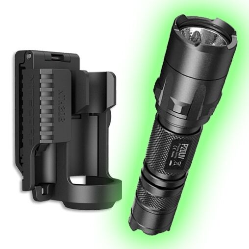 Nitecore P20UV Strobe Ready LED Flashlight w NTH30B ...