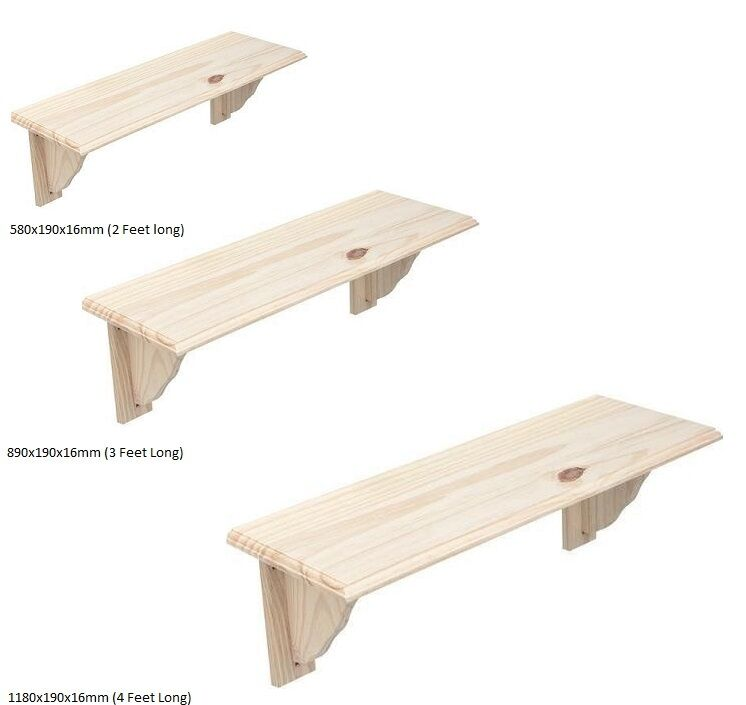 Natural Wood Wooden Shelf Storage Unit Stand Kit