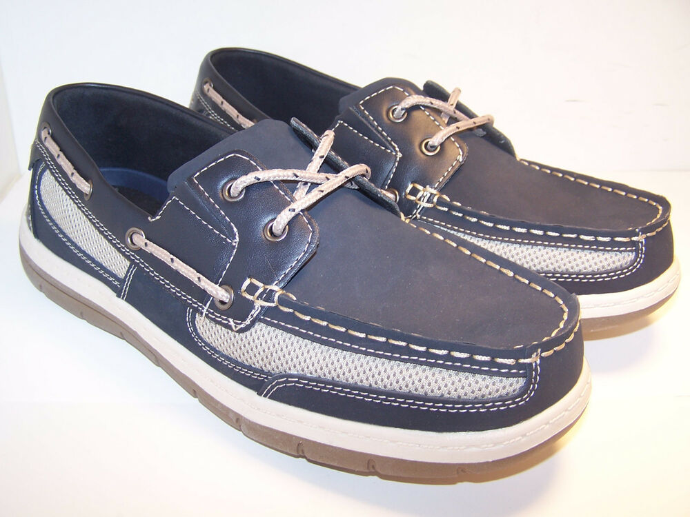 Navy Blue Boat Shoes