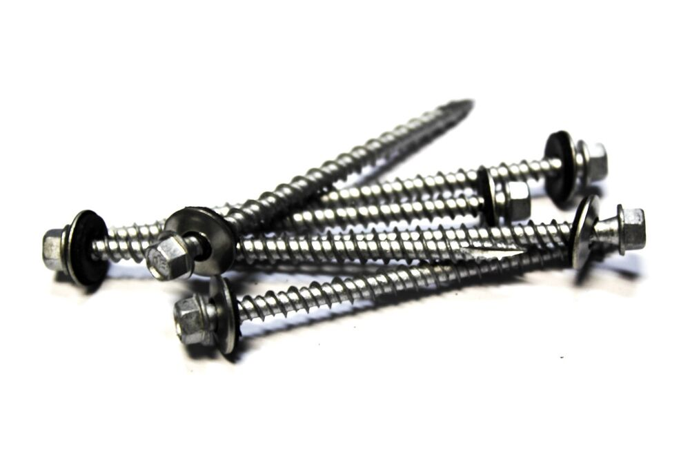 1000 10x3 Hex Head Roofing Screws With Neoprene Washer