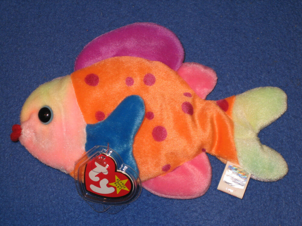 Ty lips the fish beanie baby mint with mint tags ebay for Fish beanie baby