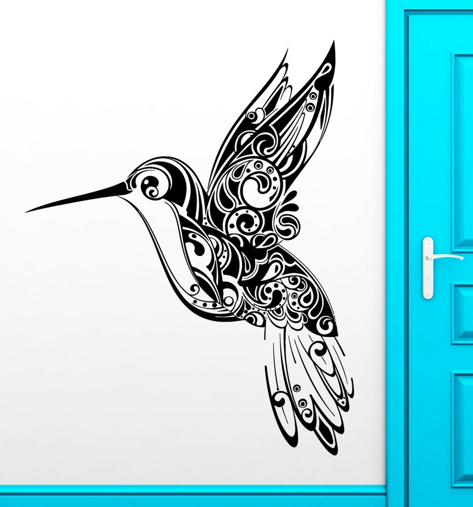 Wall Stickers Vinyl Decal Humming Bird Pattern Nature