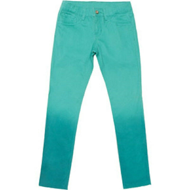 jordache girls 39 ankle super skinny denim jeans teal sizes. Black Bedroom Furniture Sets. Home Design Ideas