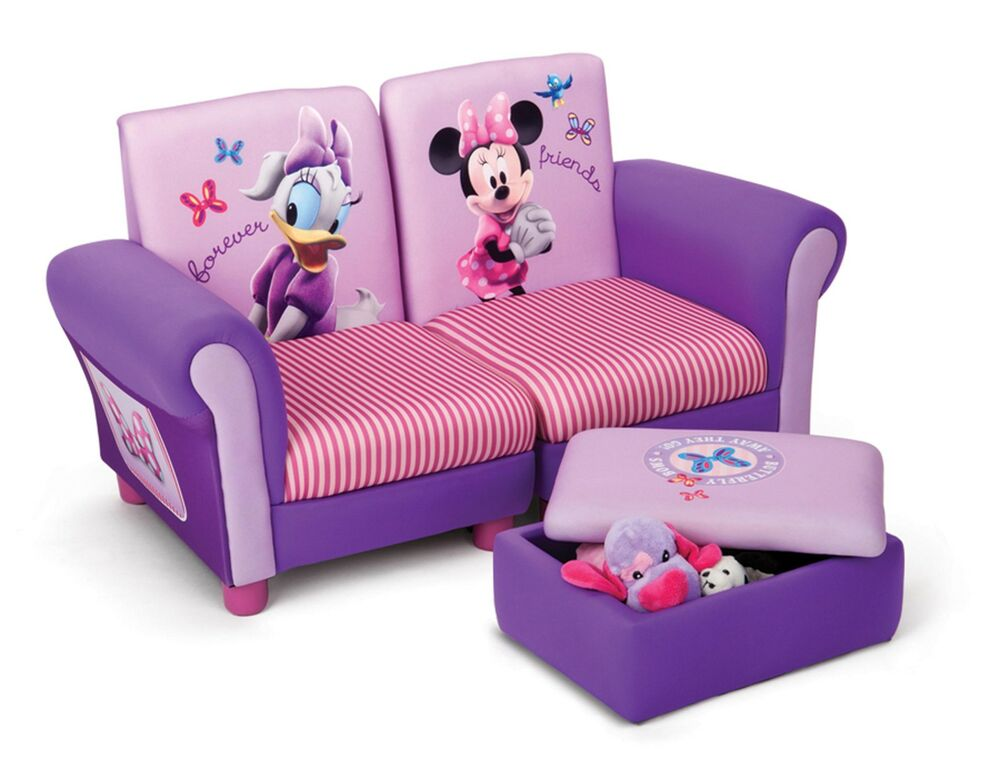 minnie mouse sofa and foot stool with storage kids bedroom furniture