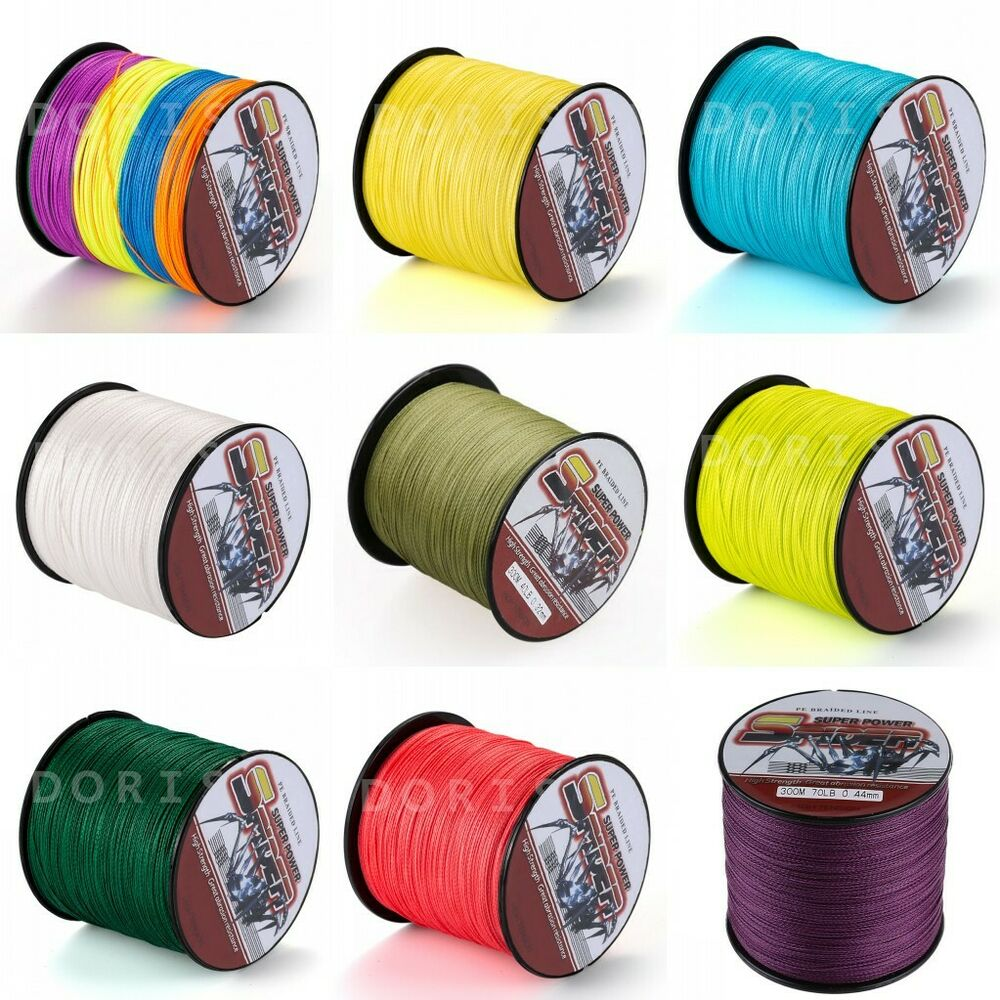 300m 328yds 12 colors 6lb 100lb super strong dyneema for Colored fishing line