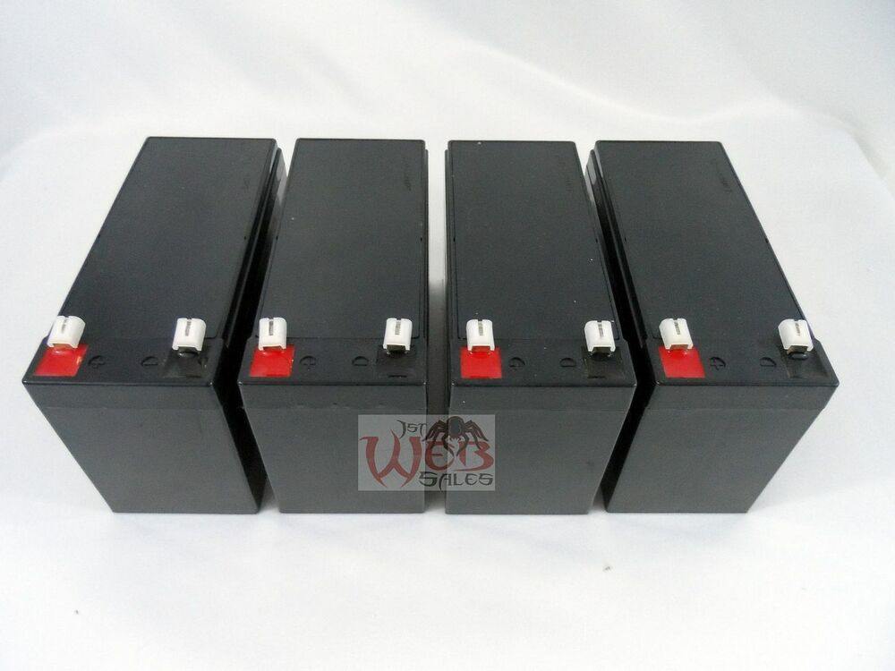 4pk 12v 7ah 8ah sla batteries replaces ub1270 ub1280 razor. Black Bedroom Furniture Sets. Home Design Ideas