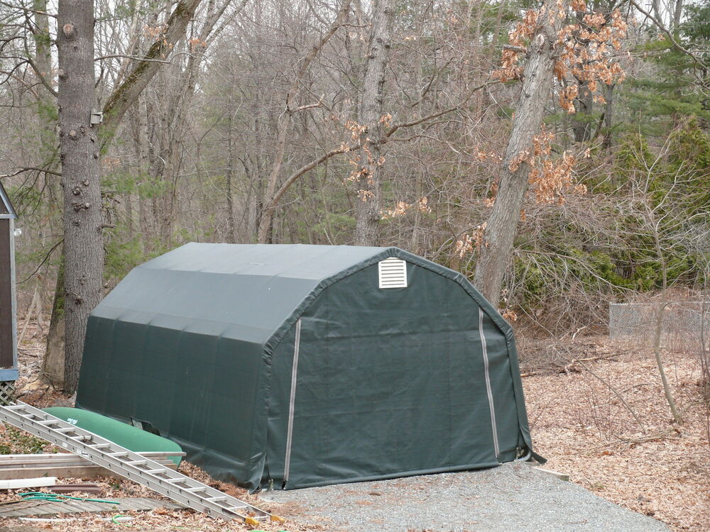 Portable Garage Replacement Covers : Shelterlogic replacement cover barn green