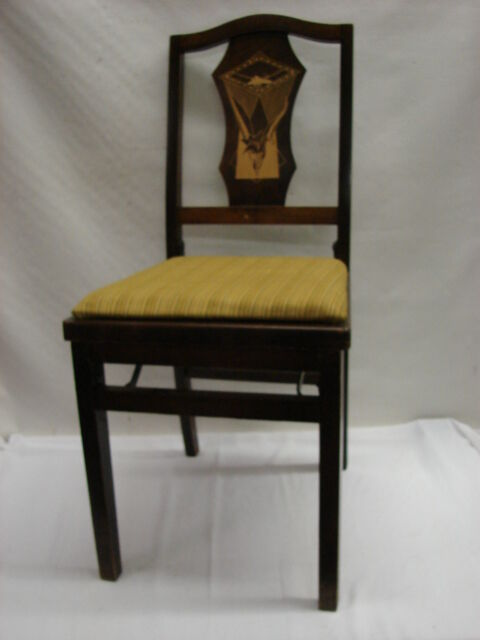 Vintage 30 39 S Art Deco Funeral Parlor Folding Chair Solid