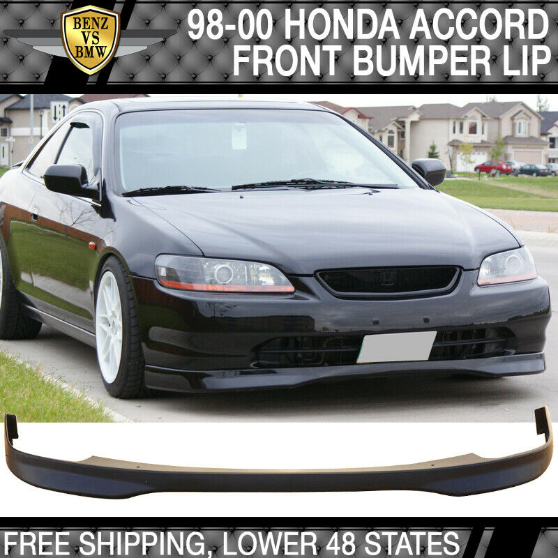 1998 2000 honda accord 2dr coupe pu t r front bumper lip. Black Bedroom Furniture Sets. Home Design Ideas