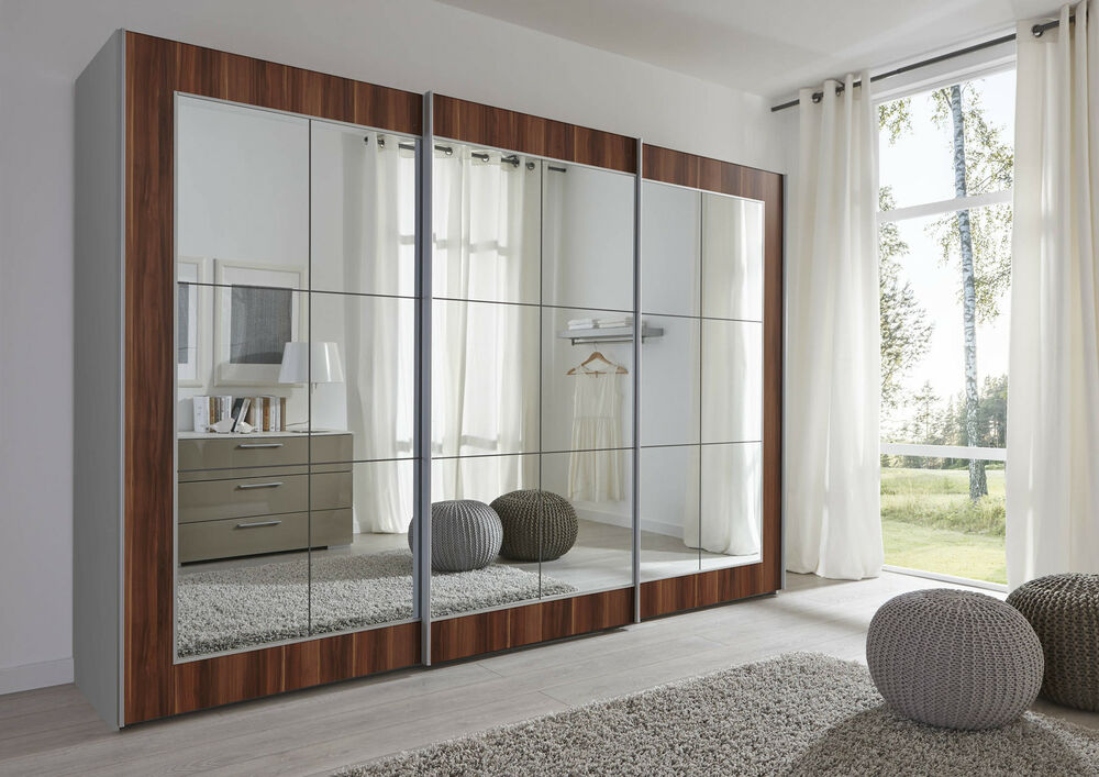 202 301cm large sliding mirror door wardrobe in 3 colours ebay