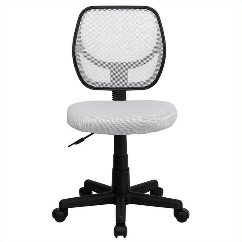 Flash Furniture Mid Back White Mesh Task And Computer