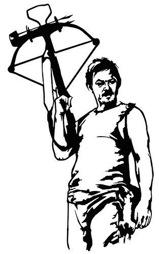 daryl dixon coloring pages - photo#14