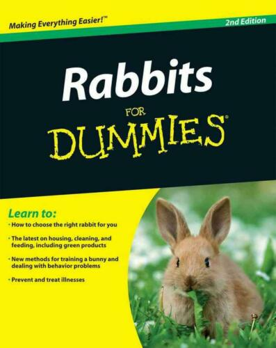 Rabbits for Dummies by Connie Isbell (English) Paperback Book Free Shipping!
