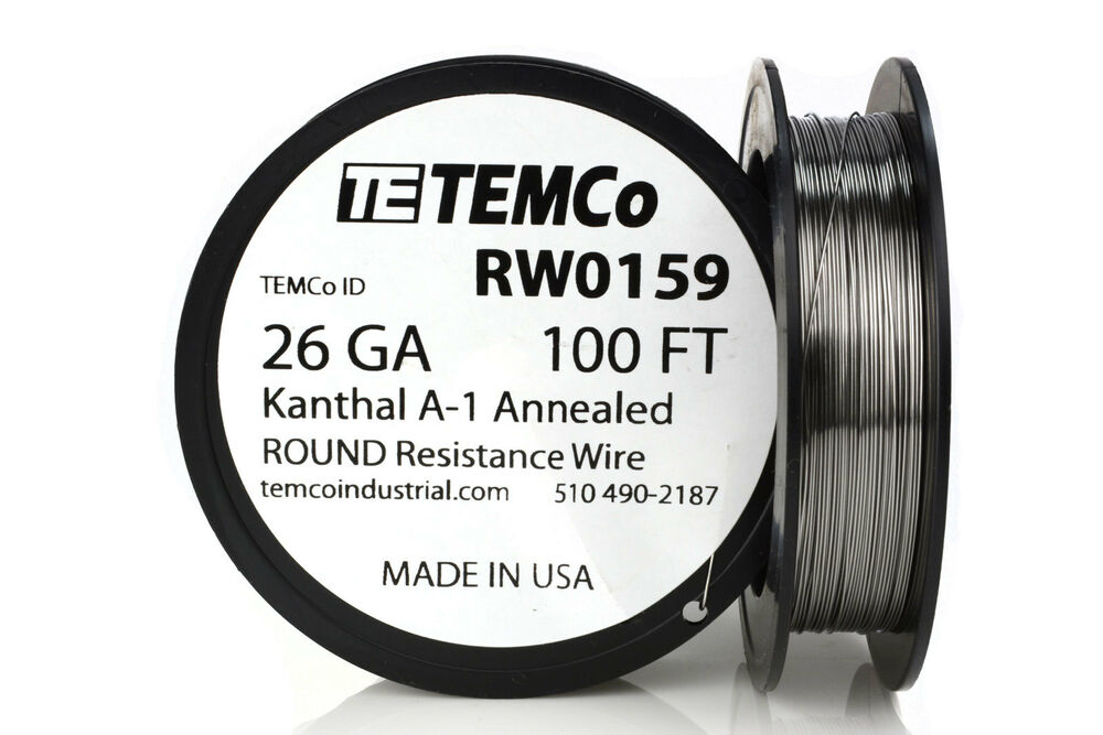 temco kanthal a1 wire 26 gauge 100 ft resistance awg a 1 ga