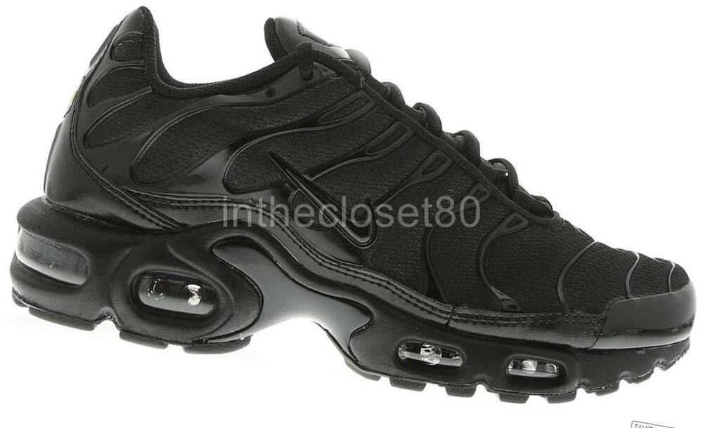 nike air max plus tuned 1 tn all triple black mens. Black Bedroom Furniture Sets. Home Design Ideas