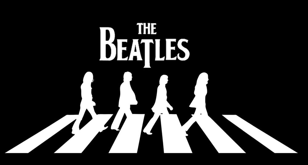 Large the beatles vinyl decal wall sticker auto graphics for Beatles abbey road wall mural