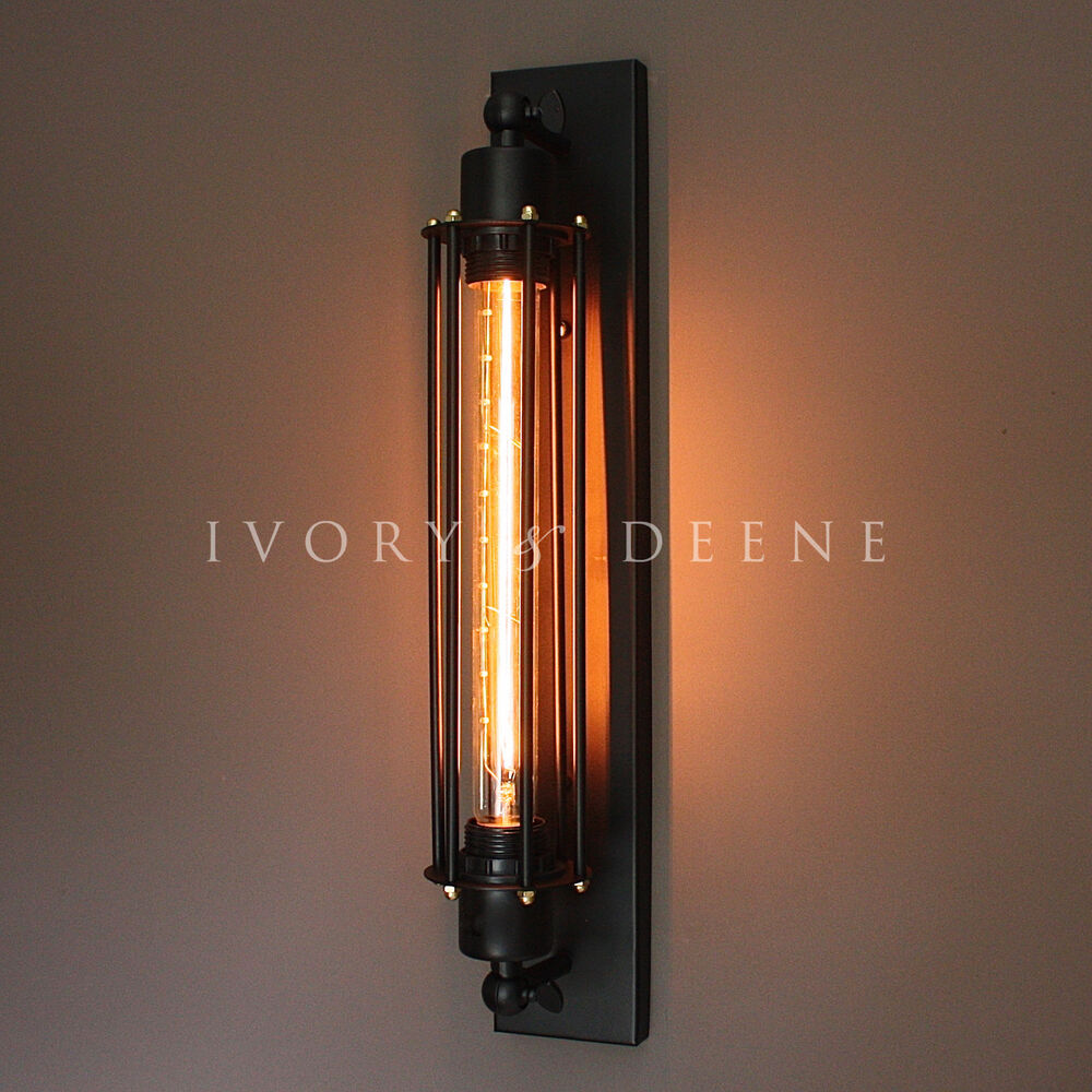 Matt Black Industrial Studio Sconce Wall Light Edison