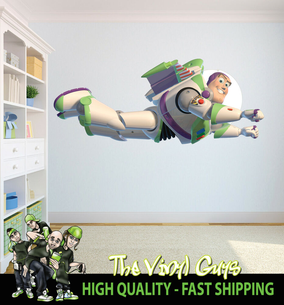 Toy Story Led Wall Light : PRINTED WALL ART TOY STORY BUZZ LIGHTYEAR SPACEMAN FLYING GRAPHIC STICKER DECAL eBay