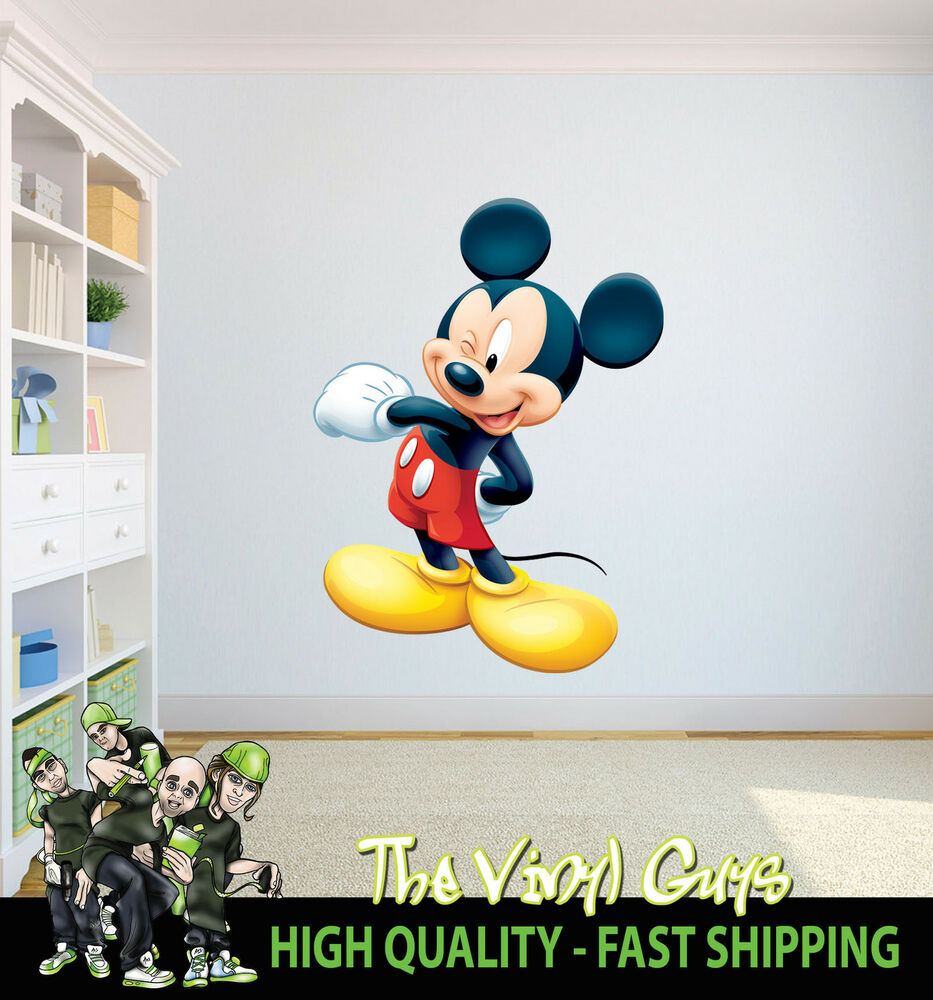 MICKEY MOUSE WINKING CARTOON CHARACTER CHILDRENS BEDROOM