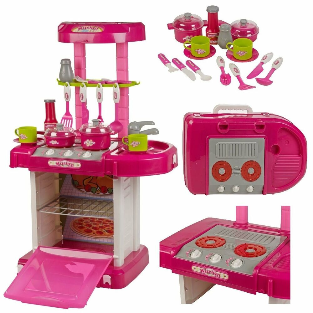 29 pc kitchen cooking children 39 s play set toy w light for Children s kitchen set