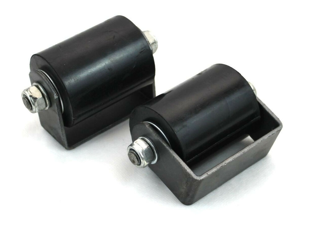 Sliding gate top guide roller pair quot hard rubberized w