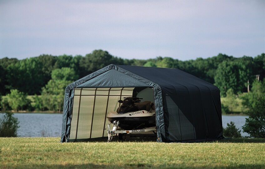 Cover It Shelters : Shelterlogic replacement cover peak green