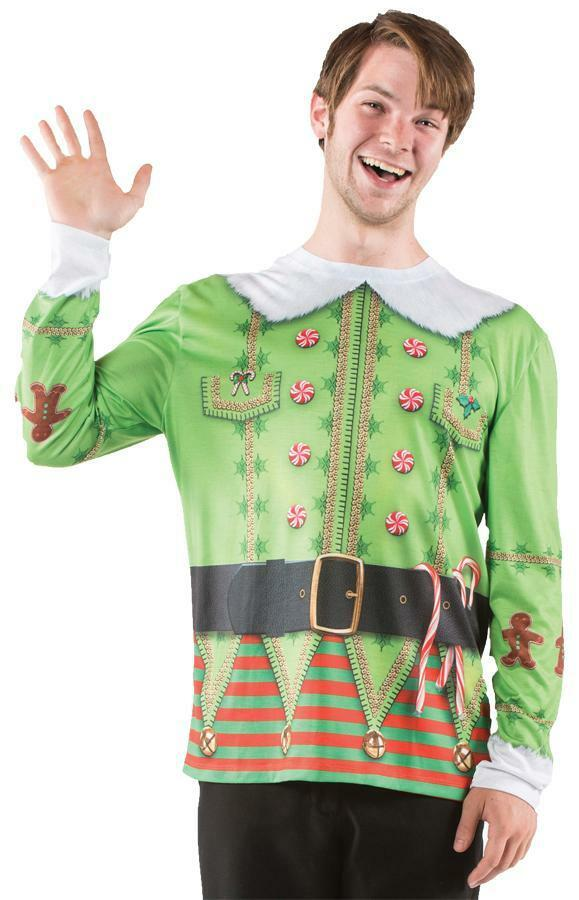 mens ugly elf christmas sweater t shirt holiday party. Black Bedroom Furniture Sets. Home Design Ideas