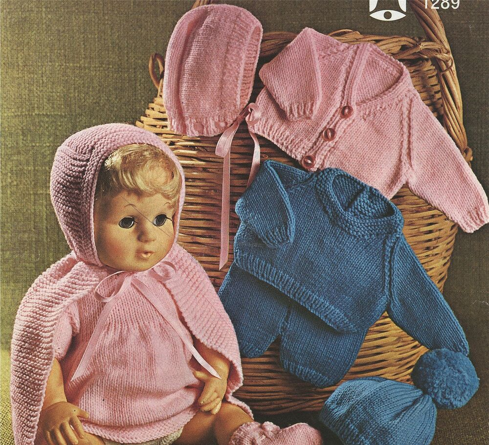 Tiny Baby Knitting Patterns Free : Dolls Clothes Knitting Pattern : 16, 18 & 20 inch Dolly : Tiny Tears eBay