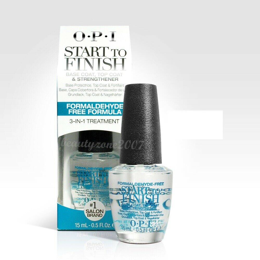 What Is The Best Nail Strengthener: Opi Start To Finish Base Coat Top Coat Nail Strengthener