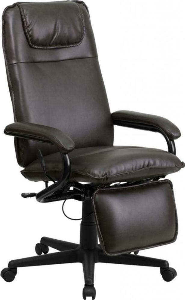 flash furniture high back brown leather executive reclining office chair new ebay. Black Bedroom Furniture Sets. Home Design Ideas
