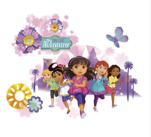 dora the explorer diego amp friends wall stickers mural 8