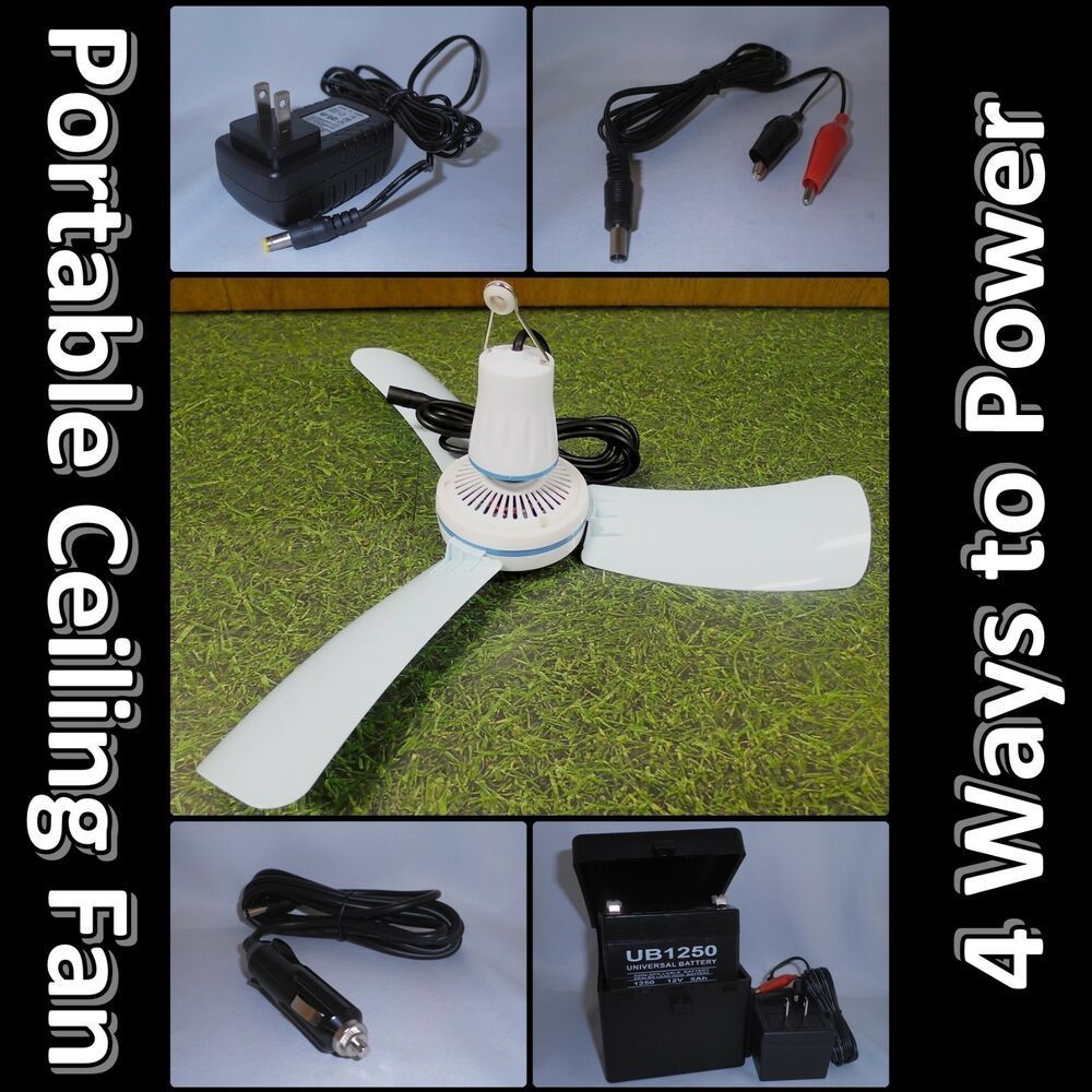 12volt Dc Mini 16 Quot Ceiling Fan Car Adapter 12v