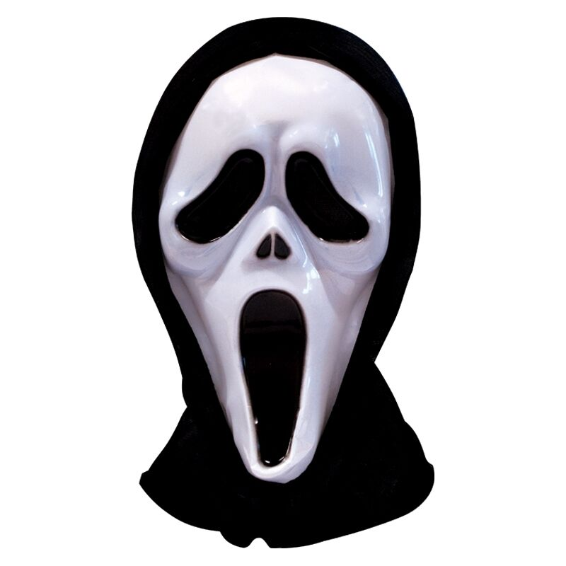 Halloween Scream Scary Ghost Face Fancy Dress Costume Mask With Hood Hooded eBay